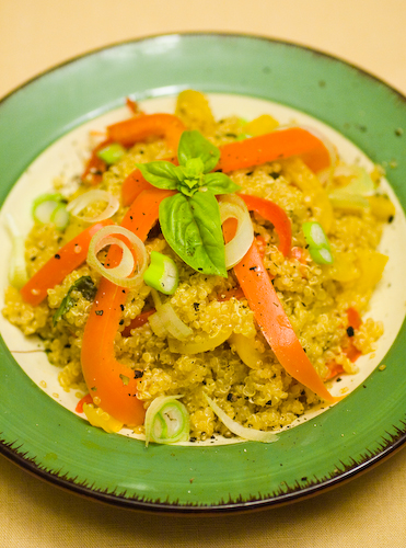 Quinoa with Peppers and Basil