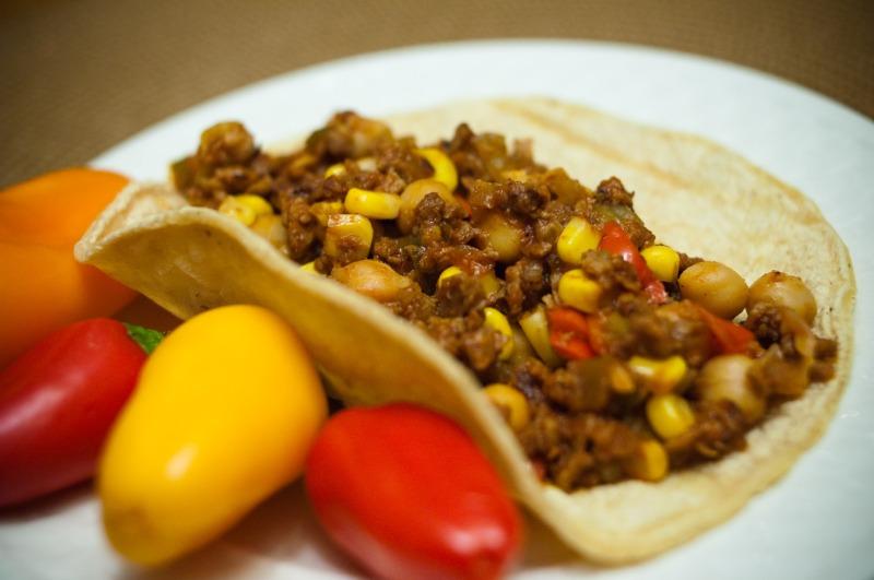 Southwest Veggie Taco and Burrito Filling